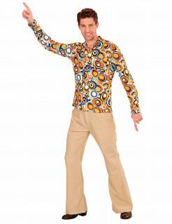 Groovy 70er Jahre Shirt mit Blasenmuster für Herren