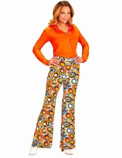 70er Jahre Hose mit Blasenmuster für Damen