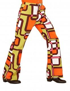 70er Jahre Hose mit geometrischen Mustern für Herren