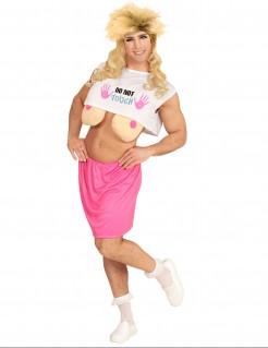 Lustiges Topmodel-Kostüm mit Brüsten für Herren