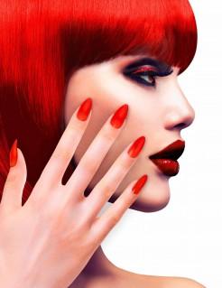Künstliche Fingernägel selbstklebend 12 Stück rot