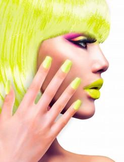 Künstliche Fingernägel selbstklebend 12 Stück neongelb