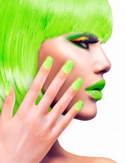Künstliche Fingernägel selbstklebend 12 Stück neongrün