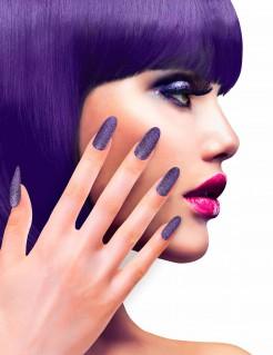 Glitzernde Fingernägel Künstliche Fingernägel lila