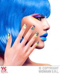 Mehrfarbige Fingernägel Künstliche Fingernägel bunt