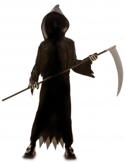 Gesichtsloser Tod Halloweenkostüm für Kinder schwarz