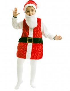 Süßer Weihnachtsmann Kinderkostüm Weihnachten rot-weiss