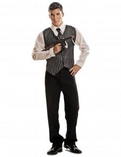 Gangster-Kostüm für Herren 20er Jahre Faschingskostüm schwarz-weiss
