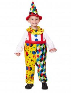 Witziges Clownskostüm für Kinder Karnevalskostüm bunt