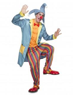 Übergrosses Clown-Kostüm bunt