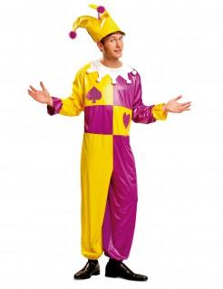 Kostüm Harlein für Herren gelb-lila