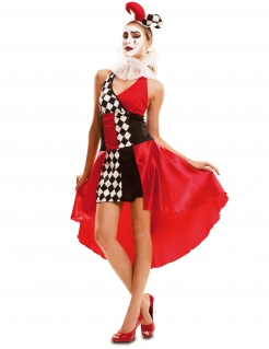 Kostüm sexy Harlekin für Damen