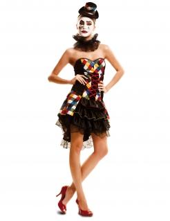 Kostüm Clowndame bunt
