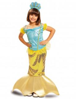 Kostüm Meerjungfrau für Mädchen gold