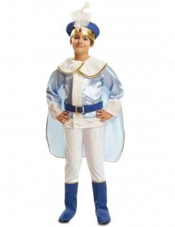 Märchenprinz-Kinderkostüm blau-weiss