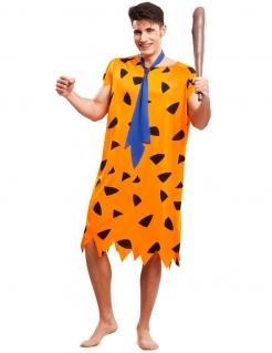 Kostüm Steinzeitmensch für Herren orange