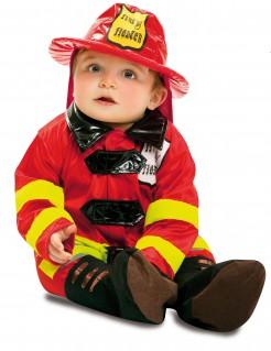 Kleiner Feuerwehrmann Babykostüm rot-gelb-schwarz