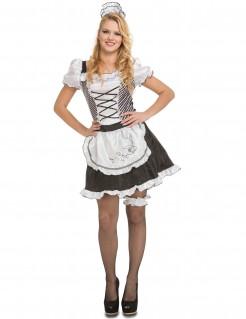 Hausmädchen-Damenkostüm Zimmermädchen schwarz-weiss