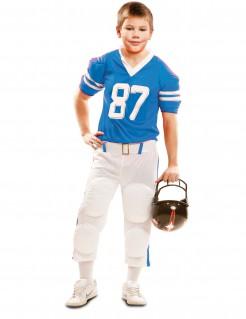 Footballspieler-Kostüm für Kinder blau