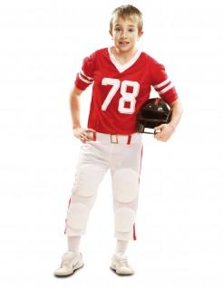 Kostüm Amerikanischer Football-Spieler für Jungen rot