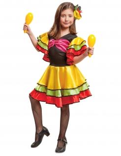 Spanierin-Kinderkostüm Tänzerin bunt