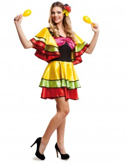 Reizende Rumba-Tänzerin Damenkostüm bunt