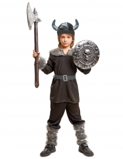 Kostüm Wikinger für Jungen schwarz