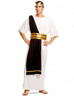 Kostüm römischer Senator für Herren schwarz-weiss