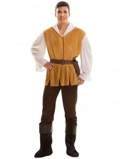 Tavernen-Kostüm Mittelalter-Kostüm braun-weiss-gelb