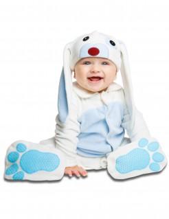 Niedliches Hasen-Babykostüm weiss-blau