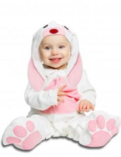 Niedliches Hasen-Babykostüm weiss-rosa