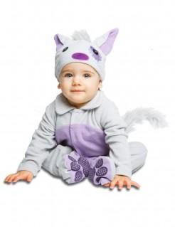 Katzen-Babykostüm grau-violett
