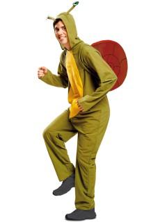Schnecken-Kostüm für Erwachsene Tierkostüm grün-gelb-braun