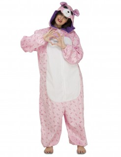 Süßer Bär Einteiler Kostüm für Damen rosa