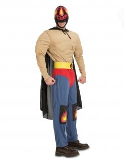 Mexikanisches Wrestling-Kostüm für Herren Faschingskostüm bunt