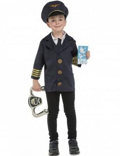 Flugzeugpilot-Kostüm mit Zubehör für Kinder