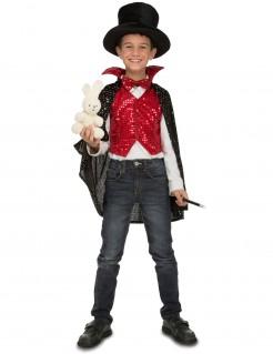 Zaubererkostüm für Kinder Magier-Verkleidung rot-schwarz