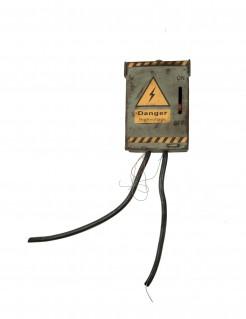 Nachtleuchtender Sicherungskasten mit Sound Stromkasten Halloweendeko grau 83x18cm