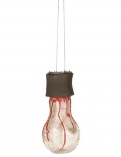 Blutige Glühbirne Halloween-Dekoration braun-rot 11cm