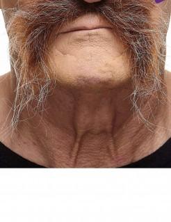 Ergrauender Schnurrbart für Erwachsene braun