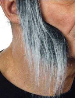 Lange Koteletten Erwachsene grau