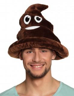 Lustiger Kothaufen-Hut braun
