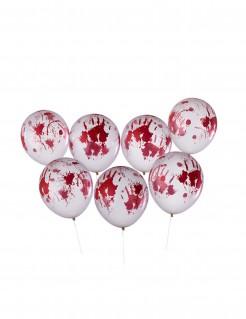 Blutige Ballons Halloween-Deko 8 Stück 30 cm