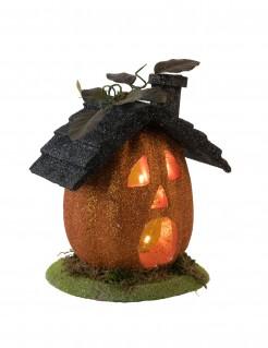 Kürbis-Haus Halloween-Deko 23 cm