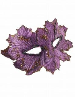 Fantasy-Augenmaske Baumwesen Blattmaske lila-gold
