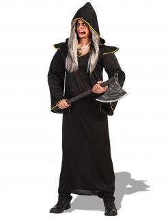 Furchterregender Dämonen-Krieger Halloween Kostüm für Herren schwarz-gold