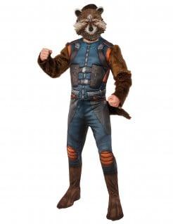 Rocket Raccoon™-Kostüm Guardians of the Galaxy 2™-Lizenzkostüm blau-braun