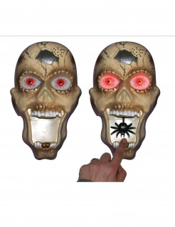 Zombie-Türklingel mit Licht und Sound Halloweendeko beige