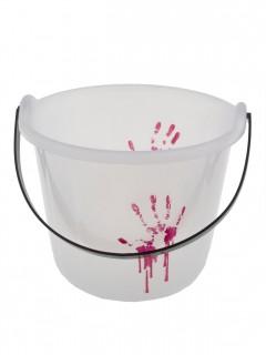 Nachtleuchtender Eimer mit Blut Halloween-Deko