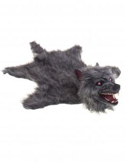 Wolfsfell-Teppich - mit Licht und Ton - 75 X 50 cm